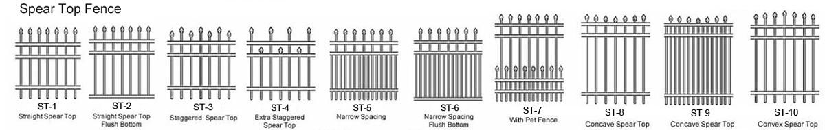 style iron fence