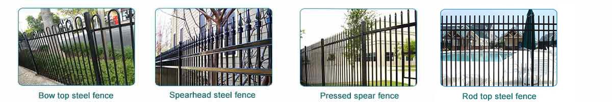 black iron fence style