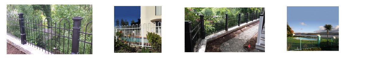 bow iron fence 应用